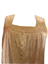 Eileen west nightgown Large 100% cotton SOFT  Jersey  Square Neck  Short