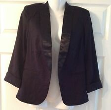 Women's tuxedo jacket blazer black size 10 smart going out dinner lined Party