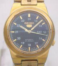Vintage Seiko 5 Japan 7S26 21J Automatic Gold Plated D/D 36mm Men's Wrist Watch