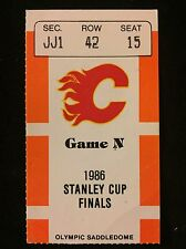 1986 NHL STANLEY CUP FINALS GM5 TICKET STUB CALGARY FLAMES vs MONTREAL CANADIENS