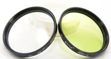 ⭐NEW⭐ Russian Ultraviolet UV-1x & Yellow-Green YG-1.4x Lens Filters 62mm Volna-3