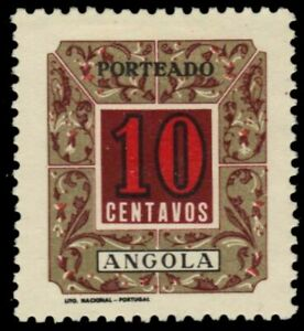 """ANGOLA J37 - Numeral of Value """"Postage Due"""" (pa14770)"""