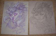 JOE CAPOBIANCO Dragon Woman Original Ink & Color Pencil from BITE ME Sketchbook