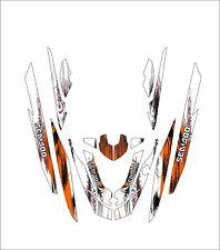 SEA DOO 260 RXT jet ski wrap graphic pwc stand up jetski decal kit orange tribal