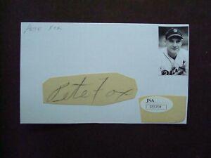 Pete Fox 1933-40 Detroit Tigers autograph on index card d.1966