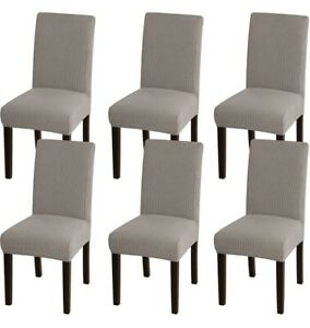 Taupe Brown Bellahills Stretch Dining Table Chair Covers Jacquard Set Of 4 Slip