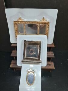 dolls house accessories job lot 3x  assorted mirror items 1.12th Y