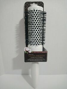 Cricket Ultra Smooth Thermal 370 Round Hair Brush Coconut Oil Keratin Brush NEW