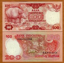 Indonesia, 100 Rupiah, 1977, P-116, Unc > Javanese Rhino