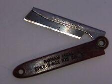 Vintage Pocket Refillable Knife advertising Roman Meal SPEE-D-MIX PIE CRUST
