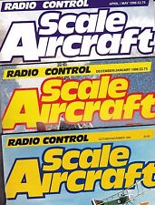 Various Issues of RADIO CONTROL SCALE AIRCRAFT Magazine from 1985 to 1998