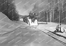 ORIG NEG Maine Central plow extra with steam power 1952 Original 2 ¼ X 3 ¼ inch
