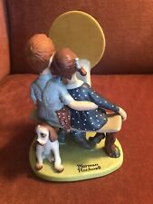 """""""Young Love"""" from The Norman Rockwell Porcelain Figurines Danbury Mint Vtg 1980"""