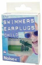 Noise-X Child Size Swimmer / Swimming Ear Plugs (1 Pair)