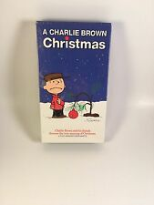 A Charlie Brown Christmas animated vhs copyright 1965 Schultz NEW