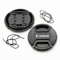 2X 77mm Front Lens Cap For Canon DSLR Lens Center-Pinch Snap-On With Cord NEW
