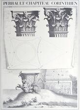 Claude perrault chapiteau corinthien poster Art Imprimé Image 84,1x59,4cm