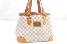 Auth Louis Vuitton Damier Azur Hampstead PM Shoulder Tote Bag N51207 LV 62542