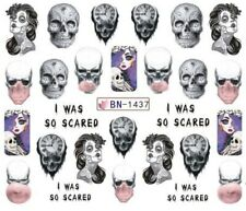 Nail Art Stickers Water Decals Transfers  Halloween I Was Scared (BN1437)