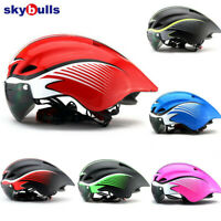 Skybulls Road Bicycle Helmet Goggles Racing Cycling Safety Helmets With Lens