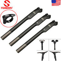 TOSEEK Carbon Fiber Seatpost Cycling Bike Seat Post Saddle Tube 27.2/30.8/31.6mm