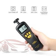 19999 Rpm Handheld Contact Lcd Digital Tachometer Speedometer Fr Automobile F4t0