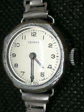 Vintage Tempex Ladies Hand Wind Watch ~Swiss Made ~Winds