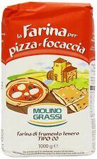 Molino Grassi Italian Flour for Pizzas and Focaccia 1 kg (Pack of 10)