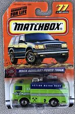 Matchbox 1999 FIRE RESCUE Mack Auxiliary Power Truck 77/100