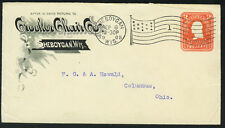 "US 1905 SHEBOYGAN ADVERTISING COVER FOR ""CROCKER CHAIR CO."" TO COLUMBUS, OHIO"