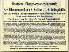E.V. Berlin à Katowice O. - p. allemande phosphorbronce-industrie publicitaires 1912