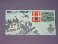 1999 ROYAL MINT & ROYAL MAIL BERLIN AIRLIFT ANNIVERSARY MEDALLIC STAMP COVER