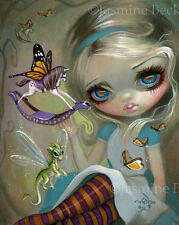 Jasmine Becket-Griffith alice wonderland art print SIGNED Looking Glass Insects