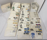 HUGE LOT OF 200+ FIRST DAY OF ISSUE Envelopes with Stamps1960s-1980s