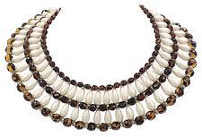 Vintage 1960s Signed Vendome Faux-Pearl Bib Necklace