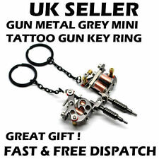 Mini Tattoo Gun Tattoo Machine Keyring Key Chain Metal Xmas Birthday Gift