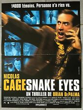 Poster Snake Eyes Brian From Palma Nicolas Cage Gary Sinise 15 11/16x23 5/8in