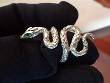 #272-VINTAGE ISRAEL STERLING SILVER SNAKE RING---SIZE-6-7--VERY NICE DETAIL AND