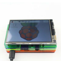 Hot 3.5 inch LCD Touch Screen Display Kit W/ Colorful Case for Raspberry Pi 2 3S
