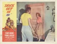 """""""SHACK OUT ON 101""""-ORIGINAL  LOBBY CARD-NOIR-TERRY MOORE-LEE MARVIN"""