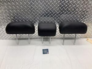05-10 KIA SPORTAGE REAR SEAT 2ND ROW HEADREST SET HEAD RESTS BLACK LEATHER OEM