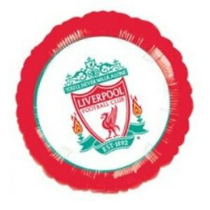 9'' Liverpool Football Club Round Foil Balloon Licensed Party Supplies (9 Inch)