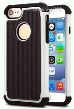 for iphone 8 triple layer black white case cover skin hybrid rugged & heavy dty