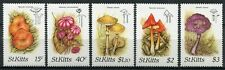 St. Kitts 1987 Pilze Funghi Mushrooms Pflanzen Plants 213-217 MNH