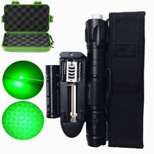 Tactical 1mw Green Lazer Laser Pointer Lamp Beam Burn Zoom+18650 Battery Charger