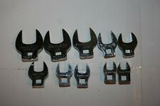 """SNAP-ON TOOLS 3/8"""" DRIVE METRIC OPEN END CROWFOOT SET 10pc USA"""