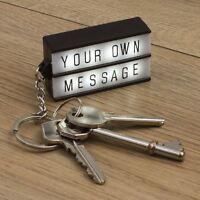 Keychain Lightbox Light Up Keyring Cinematic White DIY Message Box Cinema