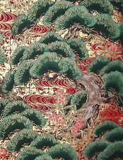 Pine Trees: Asian Japanese Quilt Fabric -1/2 Yd.