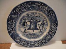 Plate~Avon Liberty Bell Bicentennial 7.75� Blue White England 1976
