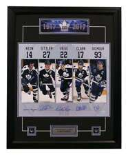 Keon-Sittler-Vaive-Clark-Gilmour Signed 25x31 Toronto Maple Leafs Captains Frame